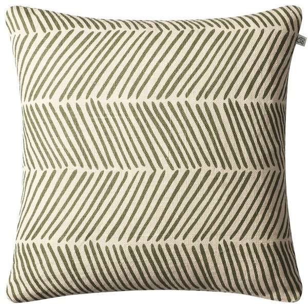 linen fishbone pillow green chhatwal & jonsson
