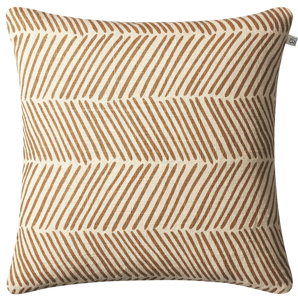 linen fishbone pillow taupe chhatwal
