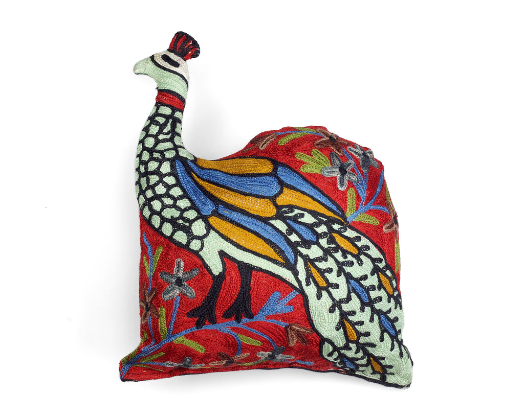 Peacock Silk Cushion | Doing Goods