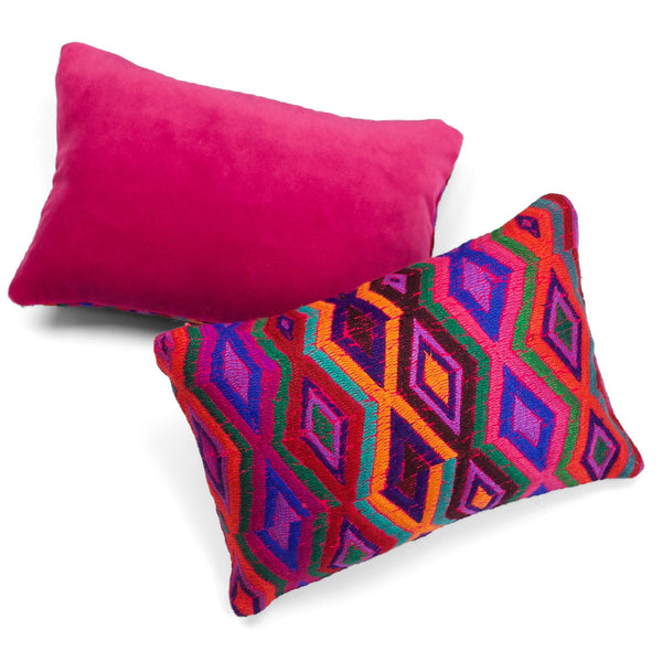 Nebaj Multicolor Huipul Pillow by Tone Textiles