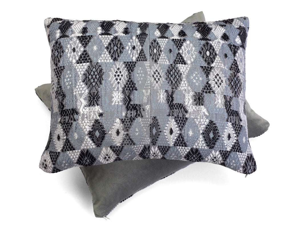 Coban Grey Huipul Pillow by Tone Textiles