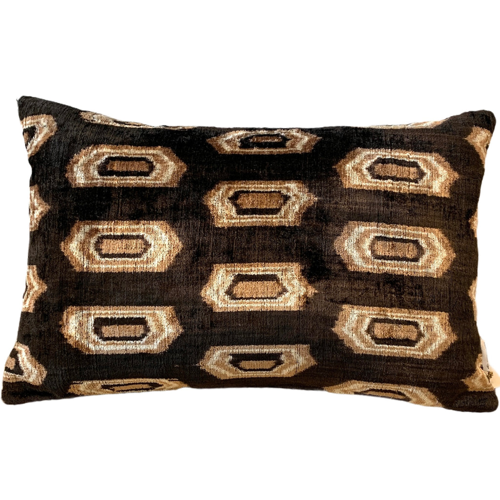 Silk Velvet Cushion N. 496 - Brown/Latte