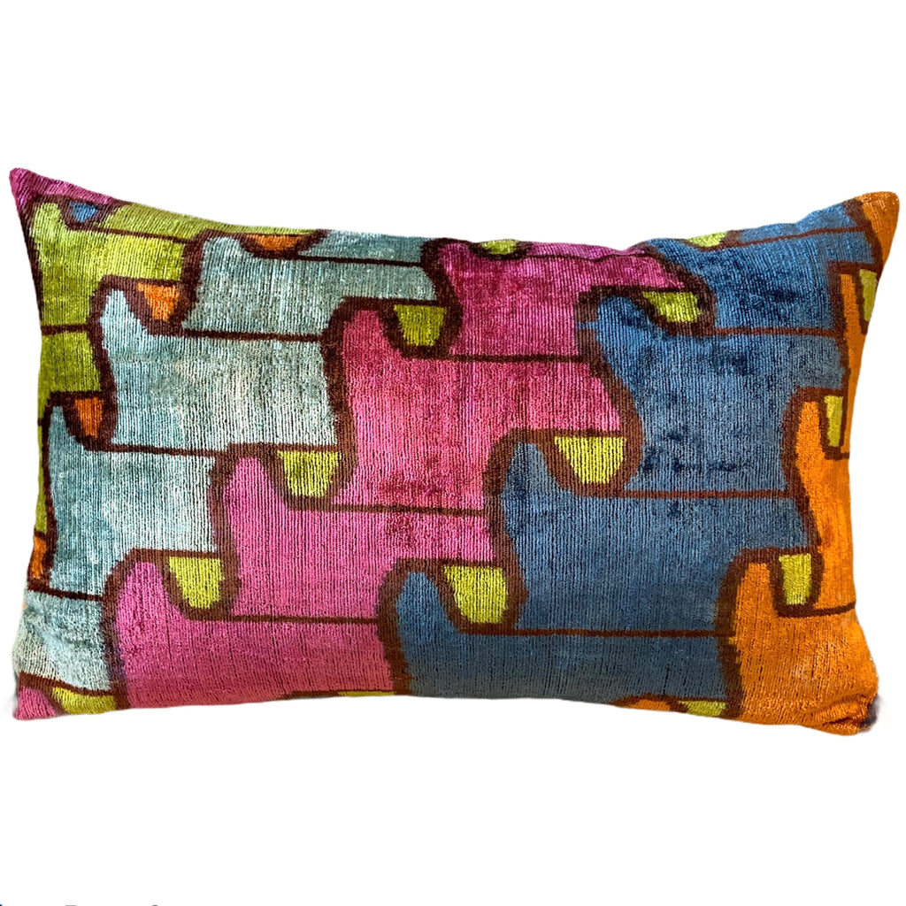 Silk Velvet Cushion N. 504 - Multi-colour