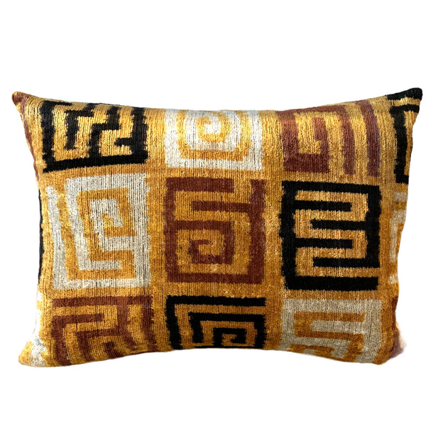 Silk Velvet Cushion N. 534 - Latte/Brown