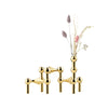 Brass candle holders & vase | Stoff Copenhagen