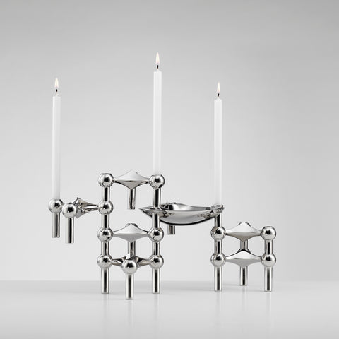 Chrome Candle Holders | Stoff Copenhagen