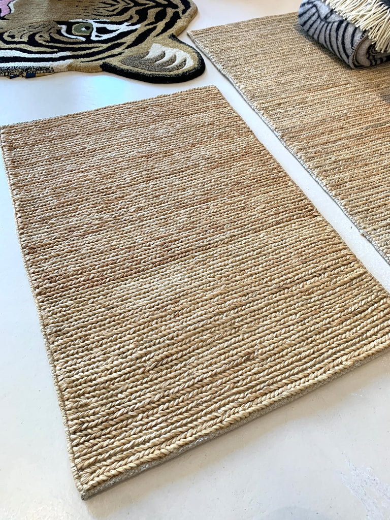 Natural Skinny Braided Jute Rugs