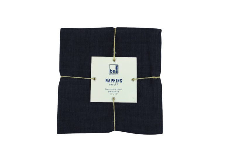 Linen Napkins - Black (4pc/set)