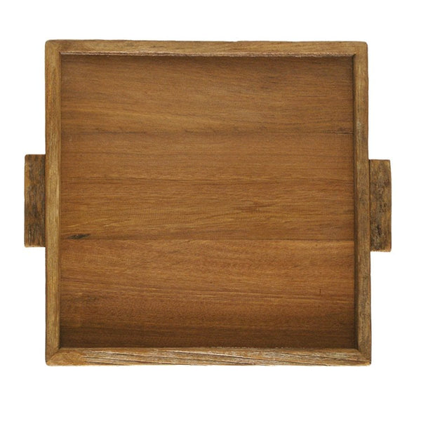 Reclaimed Wood Square Tray 14x14