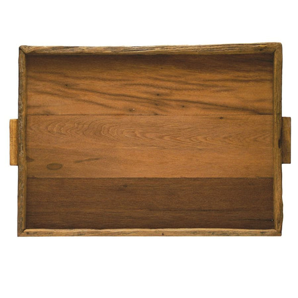 Reclaimed Wood Rectangle Tray 16x22
