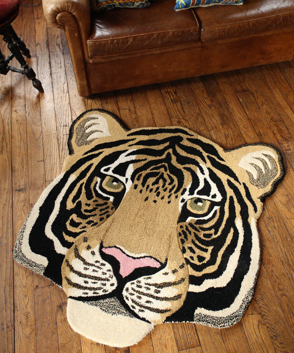 Rajah Tiger Head Rug / Doing Goods