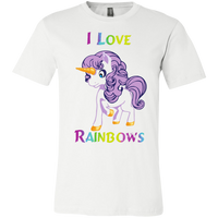 I Love Rainbows Canvas Youth Jersey Short Sleeve T-Shirt