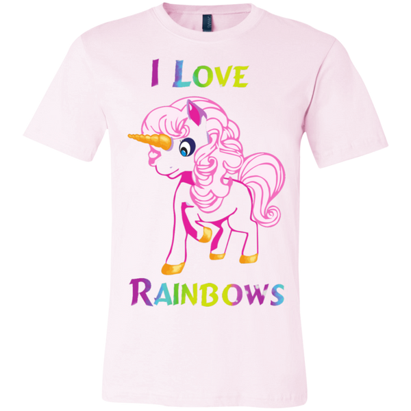 I love Rainbows C Bella + Canvas Unisex Jersey Short-Sleeve T-Shirt