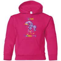 I love Rainbows Gildan Youth Pullover Hoodie