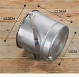 1.5L Premium Stainless Steel Ice Bucket with Strainer and Ice Tong - WineProducts.net
