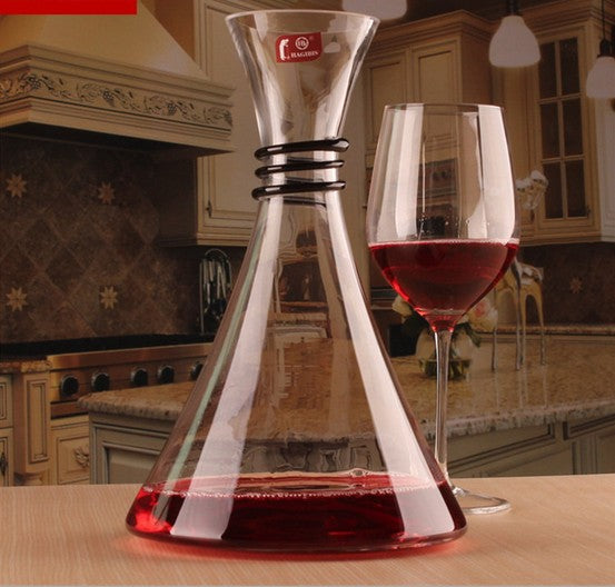 1800ml Glass Wine Decanter With Bevel Spout - WineProducts.net