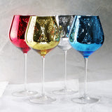 Multi-Color Metal Crystal Wine Glasses - WineProducts.net