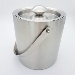Stainless Steel Double Wall Ice Bucket with Lid - WineProducts.net