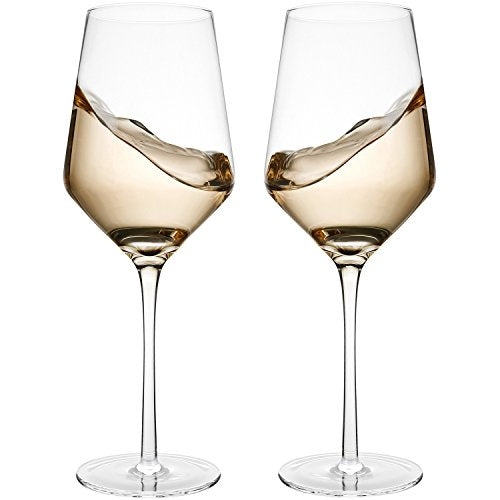 Hand Blown Crystal Wine Glasses - Set of 2 - WineProducts.net
