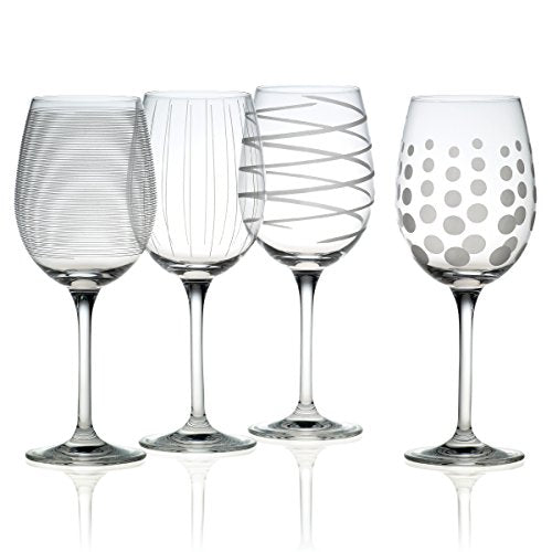 Mikasa Cheers Precision-Etched 16-oz White Wine Glasses, (Set of 4) - WineProducts.net