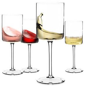 Wine Glasses, Large Red Wine or White Wine Glass Set of 4 – 14oz, 100% Lead Free Crystal - WineProducts.net