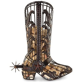 Cork Cage Cowboy Boot, 15.5-Inch - WineProducts.net