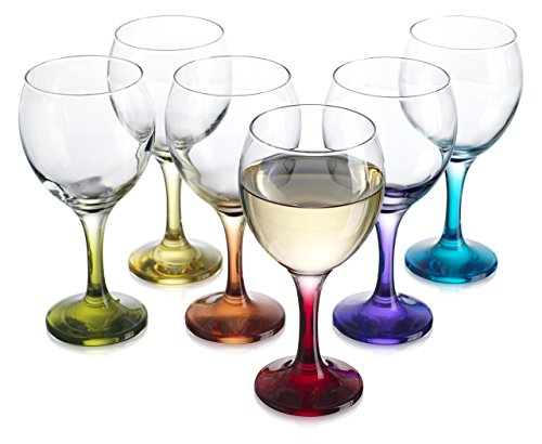 Carnival Color, Wine Glass 10 OZ Party Color Set of 6 - WineProducts.net