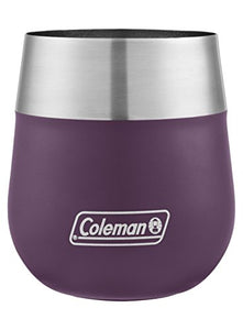 Coleman Claret Insulated Stainless Steel Wine Glass, Violet, 13 oz. - WineProducts.net