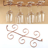 6 Wine Glass Rack Stemware Hanging Under Cabinet - WineProducts.net