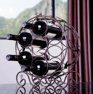 7 Bottles Red Wine Rack - Made of Iron - WineProducts.net