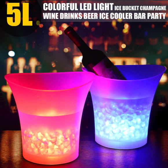 7 Color LED Waterproof Plastic Wine Bucket - WineProducts.net