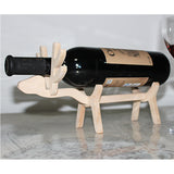 Adorable Wooden Deer Lamp Wine Rack - WineProducts.net