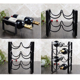 Metal Wine Rack in 2 Bottle, 3 Bottle, 4 Bottle Stackable - WineProducts.net