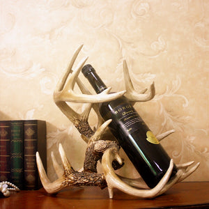 Deer Antlers Resin Wine Rack - Made of Solid Resin - WineProducts.net