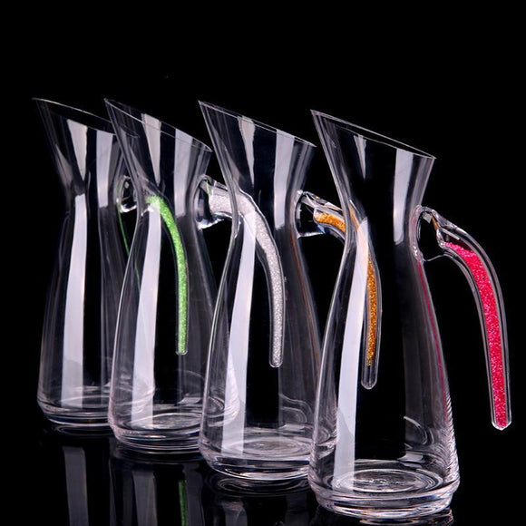Lead Crystal Decanters with Diamond Suit High-End Tall Wine Pourer - WineProducts.net