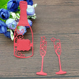 3pc Wine Bottle Metal Cutting Die Crafts Embossing - WineProducts.net