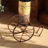 European Style Metal Wine Rack - Bronze Iron Wheels Design - WineProducts.net