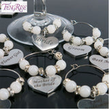 Custom Wedding Decoration Table Goblet Champagne Wine Glass Charms - WineProducts.net