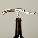 Premium Wood Corkscrew Wine Bottle Opener and Foil Cutter w/Leather Case - WineProducts.net