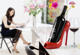 High Heel Shoe Wine Bottle Holder in Beautiful Red - WineProducts.net