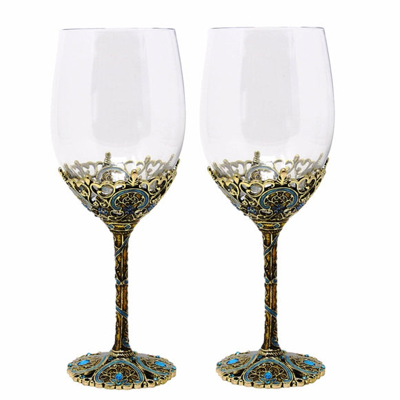 Vintage Alloy Plated Wine Glass - WineProducts.net