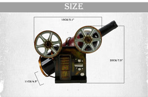 Vintage Film Projector Iron Metal Wine Rack - WineProducts.net