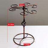 Wine Glass Rack For Kitchen Bar - Metal Goblet Display Stand - WineProducts.net