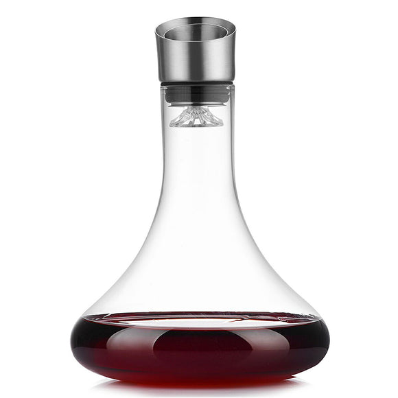 Red Wine Decanter/Crystal Wine Pourer - WineProducts.net