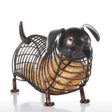 Metal Dachshund Figurine Wine Cork Container - WineProducts.net