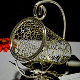 Silver Plated Metal Wine Holder for 750ml Wine Bottle - WineProducts.net