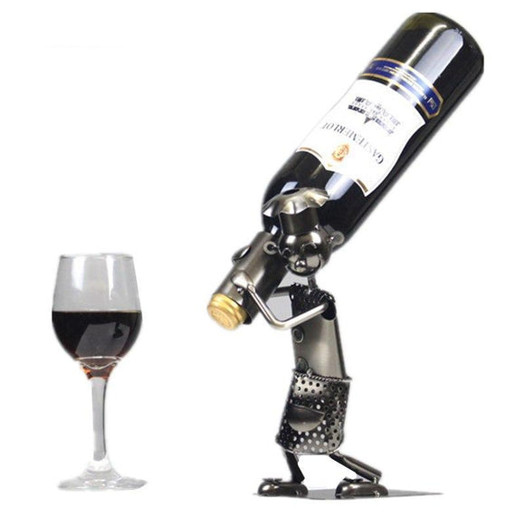 8.6'' Iron Man Wine Rack Figurine - WineProducts.net