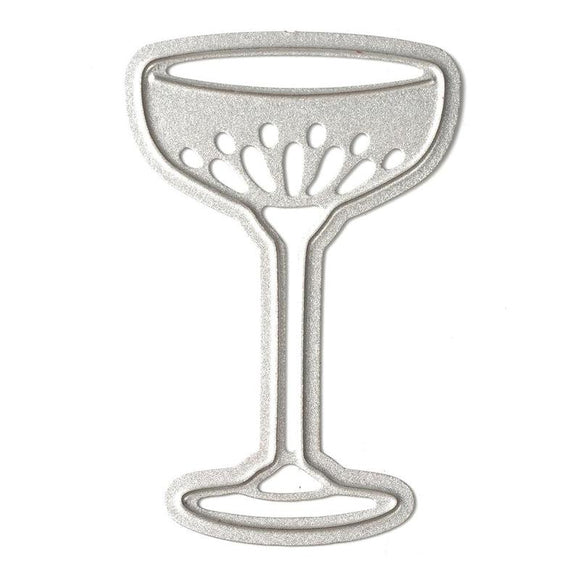Wine Goblet Shape Die Metal Cut Stencil - WineProducts.net