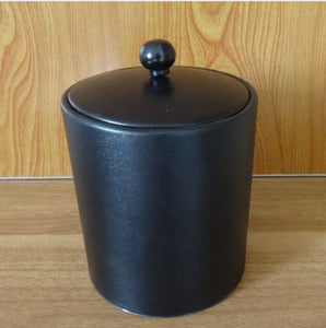 Stainless Steel Leather Ice Bucket Ice Buckets with Lid - WineProducts.net