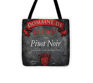 Still Life Wine Label Square Viii Tote Bag - WineProducts.net